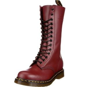 (NWOT)Dr. MARTENS 1914 14-Eye Leather Red Boots